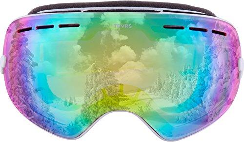 Traverse Virgata Ski, Snowboard, and Snowmobile Goggles, Snowcap with Rose Quartz - Goggles Ski Pink
