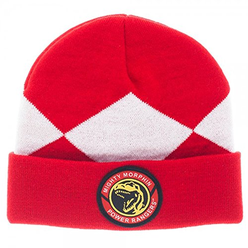 Power Rangers Costume Beanie Hat (Red Ranger), One - Costumes Rangers Power