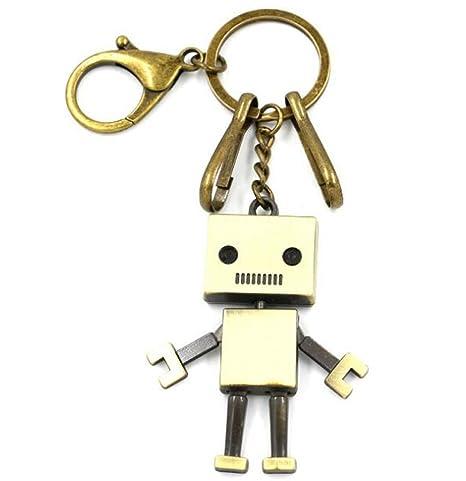 Sucolin Llaveros Originales Metalicos Robot Keychains Bronce ...