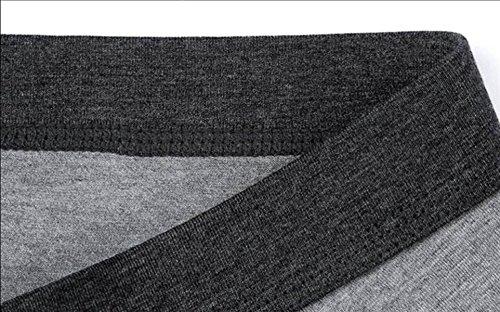 ALBOC Uomini Tronco Stretch Tronco (4 Di Pacchetto) Soft Tessuto Estremamente SOFT Disegno Magro Indossare Ogni Giorno Cotone Elasticizzato,BlackGray-LightGray-Lime-DarkGray-XXXL