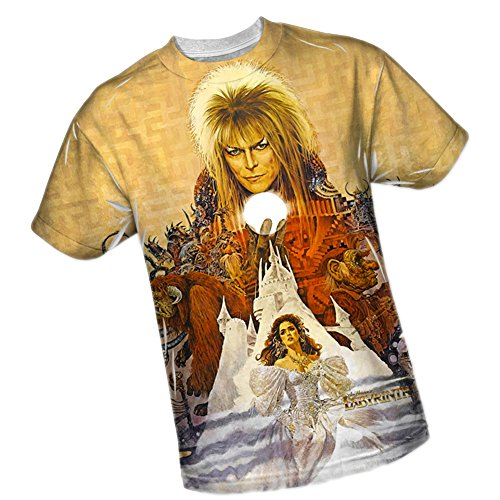Poster Art -- Labyrinth All-Over Front Print Sports Fabric T-Shirt, Large