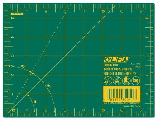 - Olfa 6x8 Rotary Mat, Green