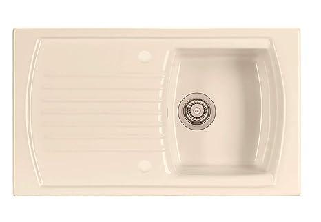 Kit Scarico Vasca Da Bagno : Waterworks lavabo da cucina in ceramica con sgocciolatoio