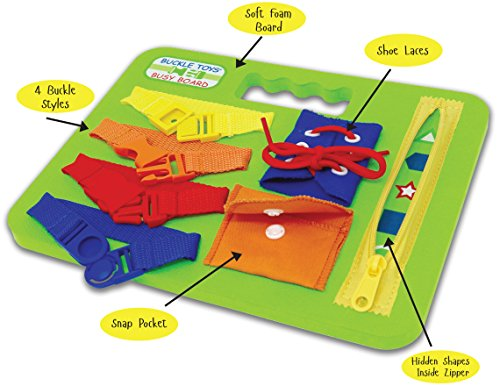 Bella Square Pillow - Buckle Toys - Busy Board