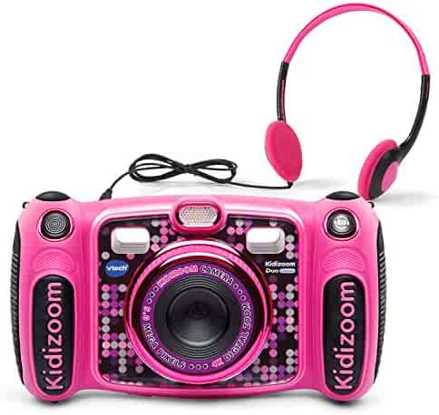 VTech Kidizoom Duo 5.0 Deluxe Digital Selfie Camera with MP3 Player & Headphones, Pink