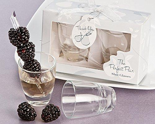 "Artisano Designs ""Perfect Pair"" Shot Glasses in Designer Favor Gift Box"