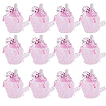 MonkeyJack 12x Pink Fillable Baby Shower Candy Bottles Sweets Boxes Party Favor