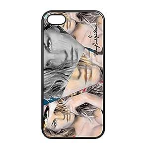 "Funda protectora para Apple iPhone 5 / 5 S, ""Gisele Bündchen Artwork © Sid Maurer"" Diseño, negro, plástico ( V.I.P. Pictures World powered by CRISTALICA )"