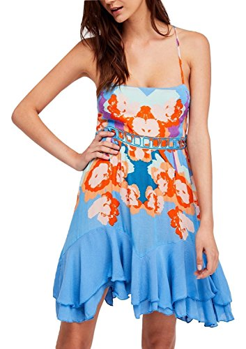 Free People Sweet Lucy Floral Print Ruffle Hem Slip Dress (Ruffle Hem Slip Dress)