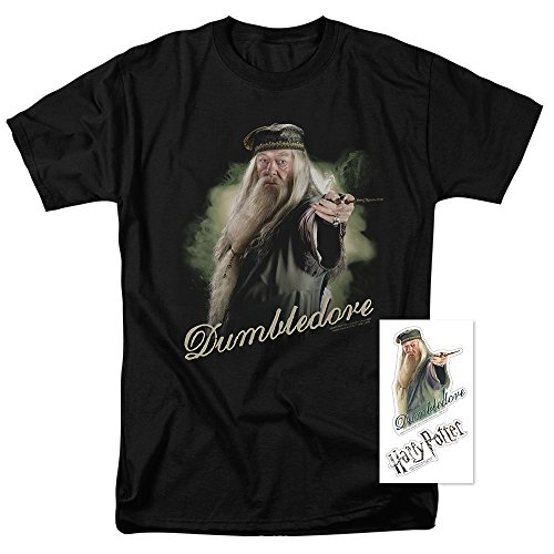 Popfunk Harry Potter Dumbledore T Shirt & Exclusive Stickers (Dumbledore Mask)