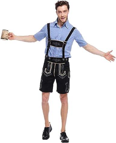 Suncaya Traje De Tirantes de Camisa de Dos Colores Oktoberfest Hombre Adulto Cosplay Vintage: Amazon.es: Ropa y accesorios
