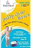 TidyTots Disposable Potty Chair Liners - Value Pack - Universal Potty Chair Fit (fits most potty chairs) - 32 Liners // TidyTots - Sacs jetables pour pot pour bébé - Pack économique – universels (conviennent à la plupart des pots) - 32 sacs