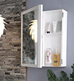 Parasnath Flora Beautiful Big Flora Bathroom Cabinet with Flora Cabinet with Mirror (Lifetime Warranty*Made in India)