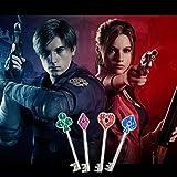 Resident Evil 2 Remake Keychain 4pcs Silver Keys
