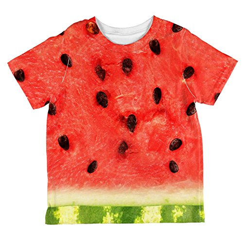 [Halloween Watermelon Costume All Over Toddler T Shirt Multi 6T] (Watermelon Toddler Costume)