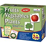 Creative Educational Aids 1017 Fruits, Vegetables and Their Plants (2 in 1)