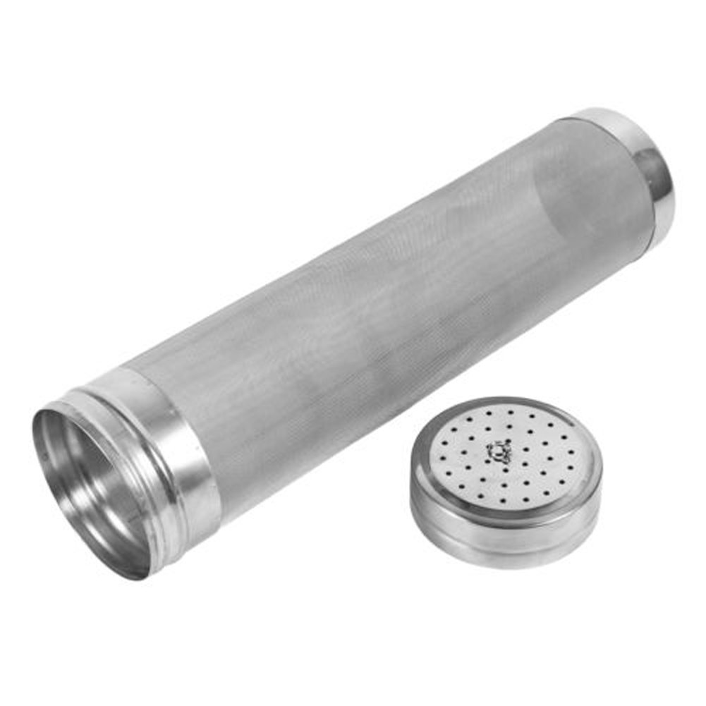 GRNSHTS 29 x 7 cm Portable Stainless Steel Homebrew Beer Brewing Hops Filter (29 x 7 cm / 11 x 2.7 inch)