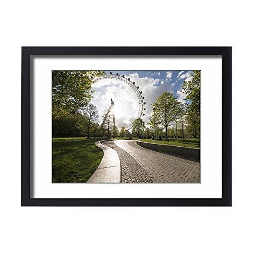 Framed 24x18 Print of London Eye, South Bank, London, England, United Kingdom, Europe (11699273)