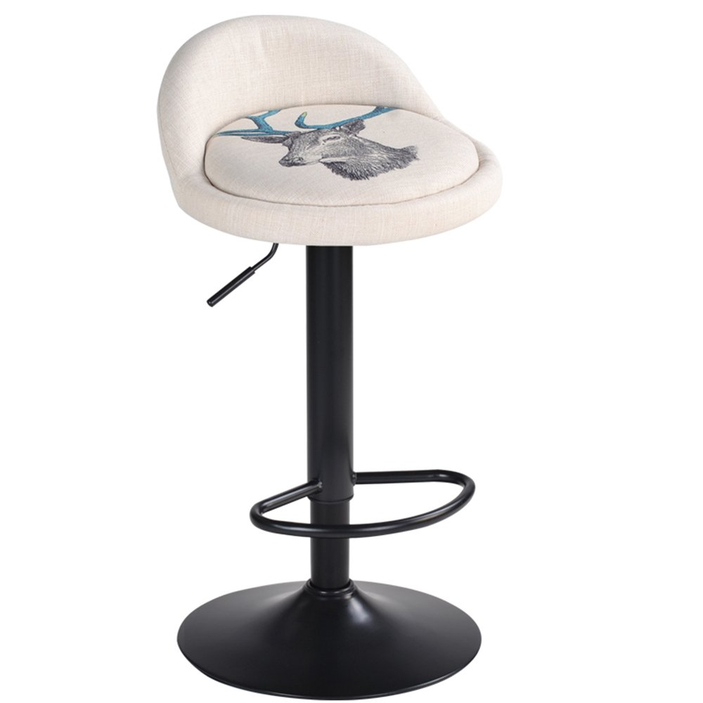 High chair, bar stool, backrest bar chair, rotating bar chair, front desk, European bar chair chair, lift chair -by TIANTA (Color : # 6)
