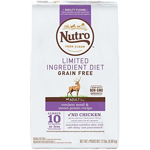 Nutro Limited Ingredient Diet Adult Dry Dog Food Venison Meal & Sweet Potato, 22 lb. Bag ()