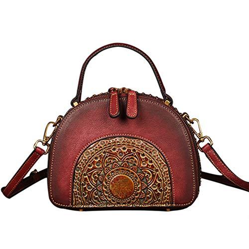 Red Hecho Brown Relieve CM A 10 Totem Personalizado 16 De 3 A Cuero Mano Bolso En 21 Pintado XRKZ Bolso Colores Opcionales Mano qf1wFxEB