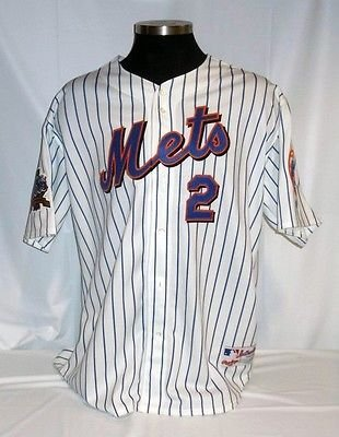 new styles 7cd9f 091f8 New York Mets #2 Vintage Rawlings White Pinstripe Jersey ...