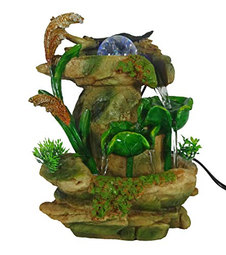 Flower Fall Fountain - GiftsRDecor Tabletop Fountain Forest Waterfall Cascading Lotus Leaves (Limited Edition)