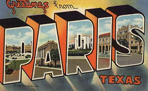 Greetings from paris paris texas original vintage postcard at greetings from paris paris texas original vintage postcard m4hsunfo