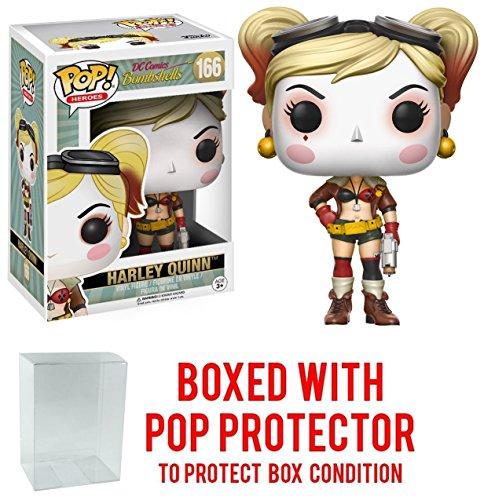 Funko Pop! DC Bombshells Harley Quinn Vinyl Figure (Bundled with Pop BOX PROTECTOR CASE)