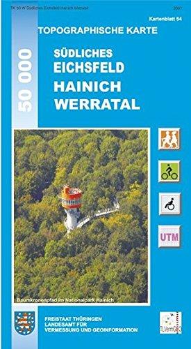 Topographische Karten Thüringen Eichsfeld Hainich Werratal  Topographische Karten Thüringen   Freizeit  Und Wanderkarten 1 50000