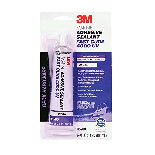 3M 05280 Marine Adhesive/Sealant Fast Cure 4000 UV,  White / 3 oz. from 3M