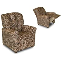 Dozydotes 4-Button Kid Recliner - Cheetah