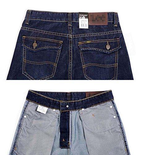 Ajustados Vaqueros Hombre Mezclilla Jeans Rectos Vaqueros Pantalón Marino Pantalones Azul naqOq