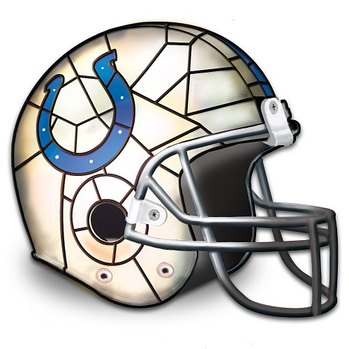 Officially Licensed Indianapolis Colts Helmet Accent Lamp by The Bradford Exchange