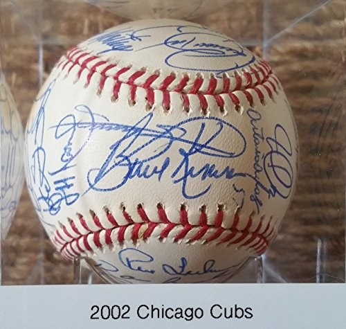 2002 Chicago Cubs Team Signed Autographed Official Major League OML Baseball w/ Sammy Sosa, Fred McGriff, Kerry Wood, Mark Prior, Moises Alou, Carlos Zambrano - COA Matching Holograms