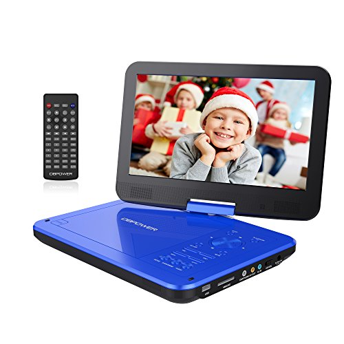 Review Of DBPOWER 10.5 Portable DVD Player with Rechargeable Battery, Swivel Screen, SD Card Slot a...