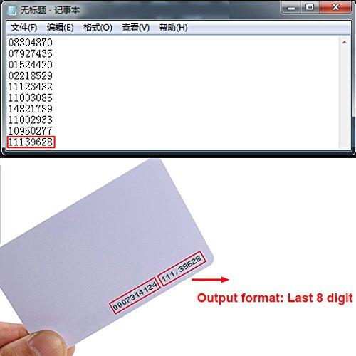 HWMATE Desktop USB 125khz RFID Card Reader Output Format Last 8 Digit