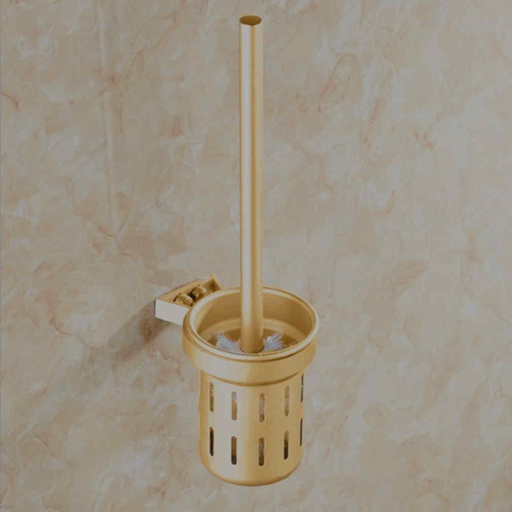 OTTOCASA Escobillero inodoro suspendido Cepillo para inodoro dorado En espacio de aluminio