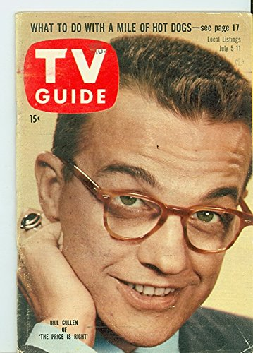 1958 TV Guide Jul 5 Bill Cullen - Missouri Edition NO MAILING LABEL Very Good to Excellent (4 out of 10) Used Cond. by Mickeys Pubs