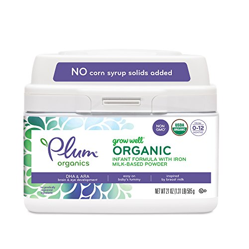 Plum Organics Grow Well Organic Infant Formula, 21 Ounce (Packaging May Vary)