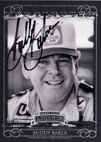 AUTOGRAPHED Buddy Baker 2008 Press Pass Legends NASCAR Racing Vintage Trading Card w/COA ()