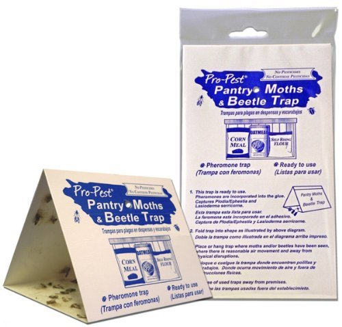Pro-Pest Pantry Moth Traps - 6 Ready to Use Pre-Baited Traps - 3 Packs of 2 Traps