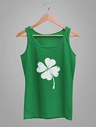 EINCcm Womens Fitness Tank Tops Workout Shirts Yoga Gym Clothes Racerback Shamrock Print St Patricks Day Tank Tops