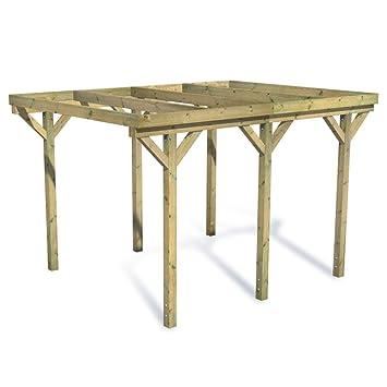 FATMOOSE Carport Bausatz aus Holz Flachdachcarport CasaCarport ...