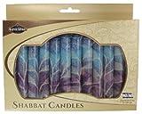 Majestic Giftware SC-SHSF-B Safed Shabbat Candle, 5-Inch, Fantasy Blue, 12-Pack