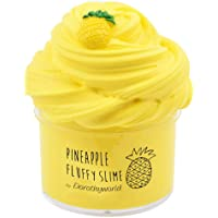 Dorothyworld 2018 Newest Yellow Pineapple Butter Fluffy Slime,Super Soft and Non-Sticky((7oz 200ML))