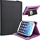 """NuVur Universal Faux Leather ::Rotating:: Folio 10"""" inch Tablet Case Fits Asus Transformer Pad TF103C, TF300TG, TF303CL, TF701T