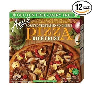 Amys Single Serve Rice Crust Roasted Vegetable Pizza, 6 Ounce -- 12 per case. by Amys