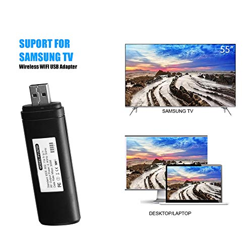 Dpowro USB Wireless TV WiFi Adapter, 2.4GHz and 5GHz Dual-Band Wireless Network USB WiFi Adapter for Samsung Smart TV WIS12ABGNX WIS09ABGN 300M