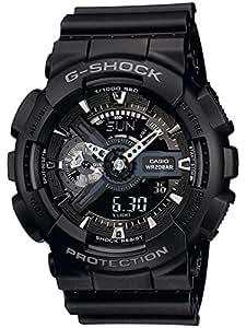 CASIO G-Shock GA-110-1BER - Reloj de caballero de cuarzo, correa de resina color negro
